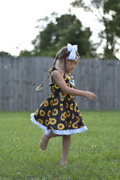 She's a Wildflower Sunflower Twirl Dress