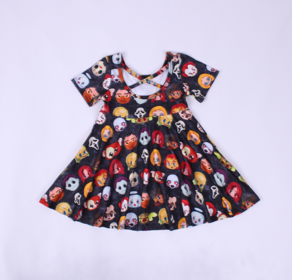 Horror Crew Cross Back Twirl Dress