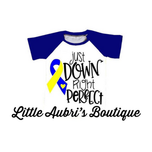 PREORDER Down Syndrome Awareness Raglan CLOSES 9/4