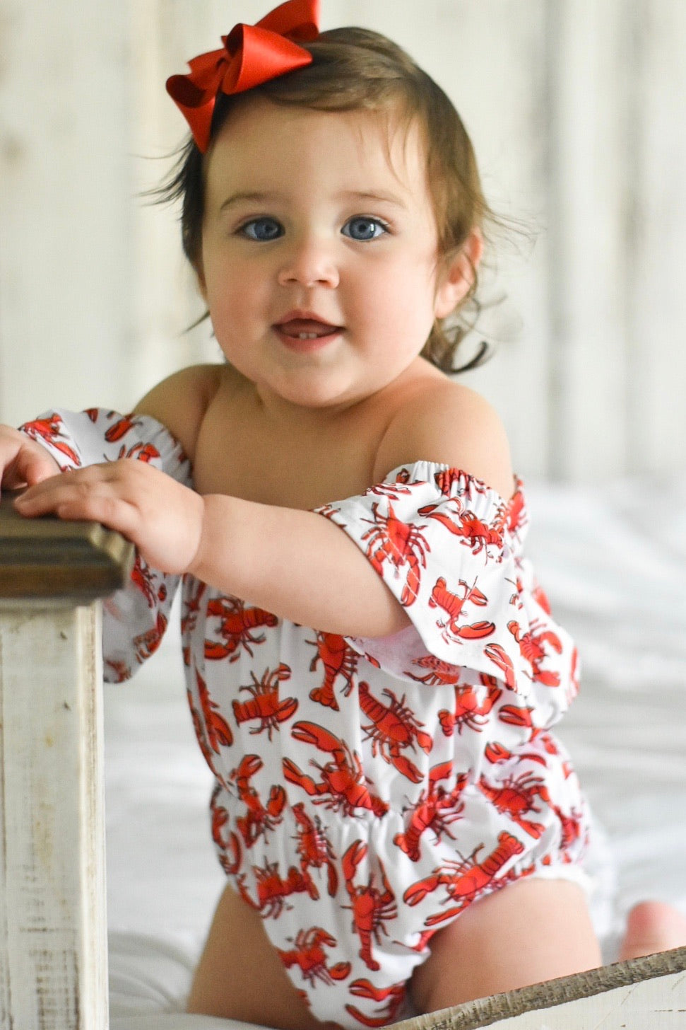 Crawfish Off Shoulder Romper