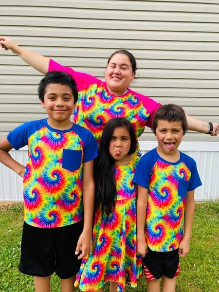 Tie Dye Mommy Raglan (Size Down)