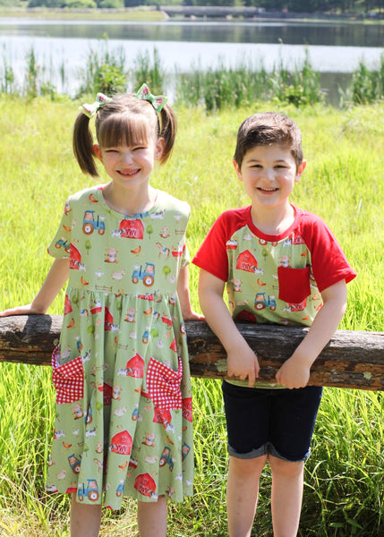 Farm Girl Pocket Twirl Dress