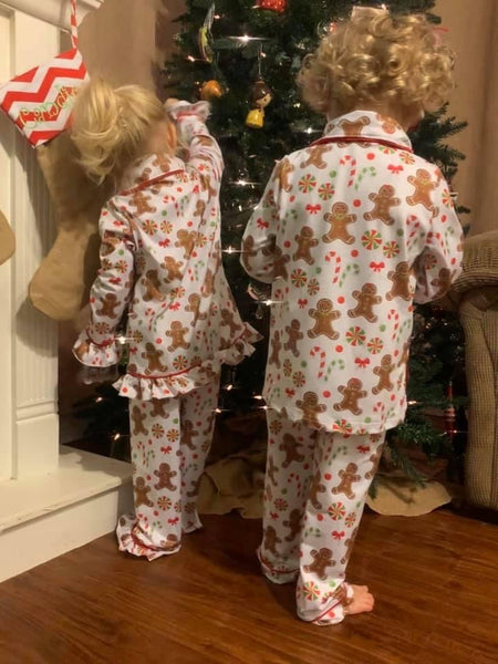 Boy Gingerbread Pajamas
