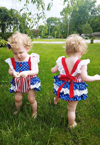 PREORDER All American Ruffle Romper CLOSES 4/28
