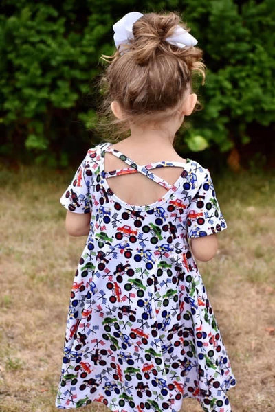 Monster Truck Cross Back Twirl Dress