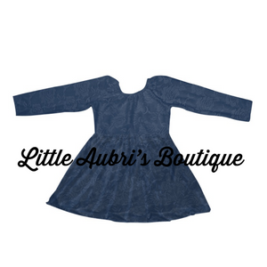 PREORDER Navy Lace Scoop Back Dress CLOSES 10/8