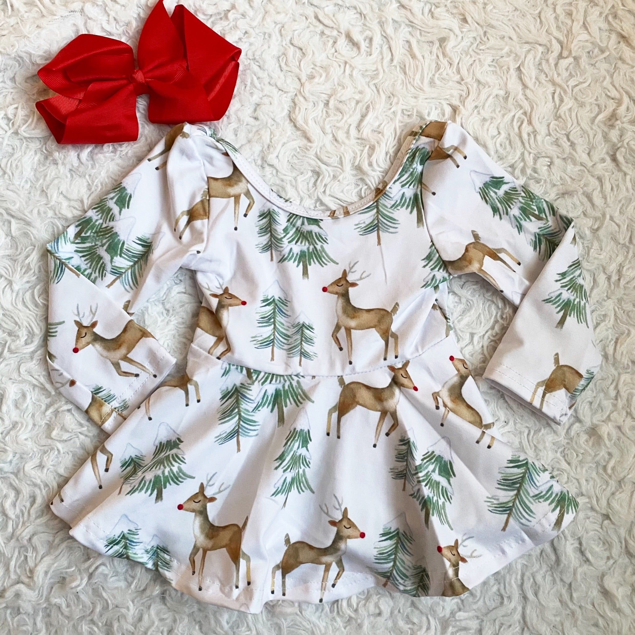 Reindeer Long Sleeve Peplum