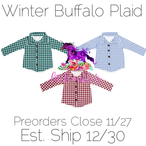 PREORDER Winter Buffalo Button Down Shirt CLOSES 11/27