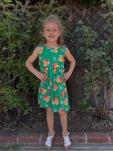 Aloha Babe Pineapple Tie Dress