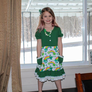 Rainbows and Leprechauns Lace Dress