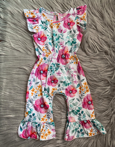 Spring Blooms Ruffle Romper