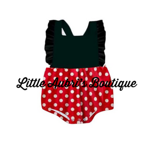 PREORDER Red Mouse Bubble Romper CLOSES 4/16
