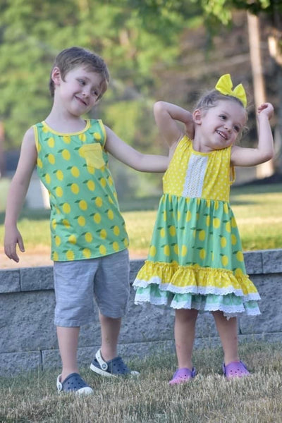 Lemonade Stand Ruffle Lace Dress