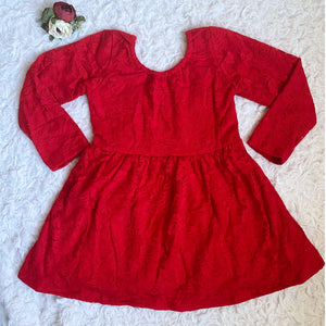Red Lace Scoop Back Dress