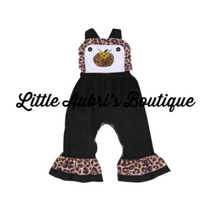 PREORDER Leopard Sunflower Pumpkin Jumpsuit CLOSES 8/28