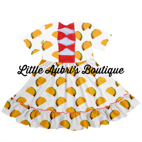 PREORDER Taco Tuesday 2.0 Bow Back Twirl Dress CLOSES 3/14