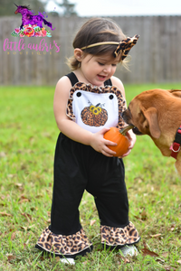 Leopard Sunflower Pumpkin Jumpsuit