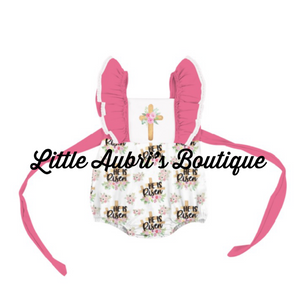 He is Risen Bubble Romper