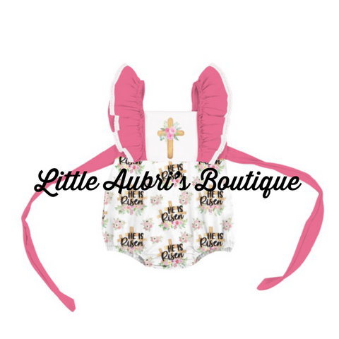 PREORDER He is Risen Bubble Romper