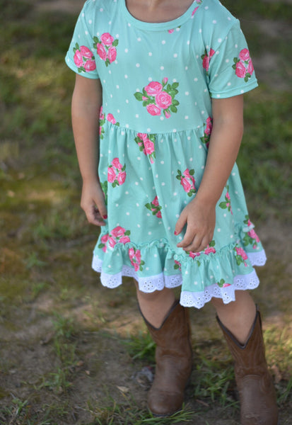 Country Fields Floral Lace Dress