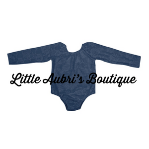Navy Lace Leotard (Fully Lined Body & Arms)