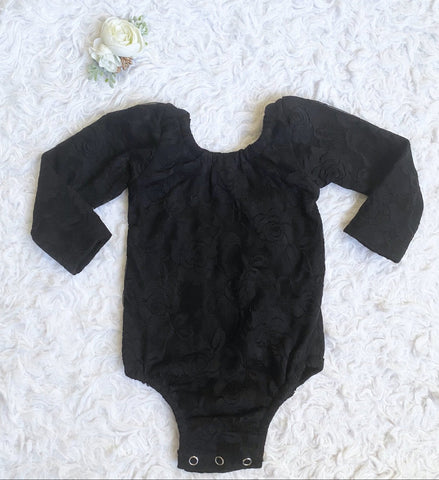 Black Lace Leotard (Fully Lined Body & Arms)