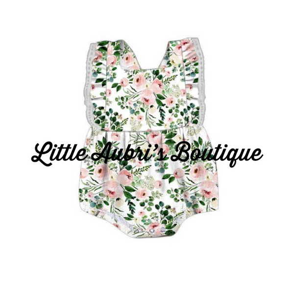 PREORDER Blush Pink Floral Bubble Romper CLOSES 3/11