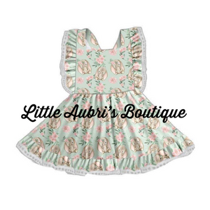 PREORDER Floral Bunny Pinafore Dress CLOSES 1/31