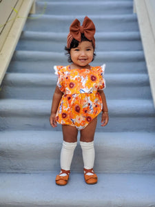 Sunflower Pumpkins Bubble Romper