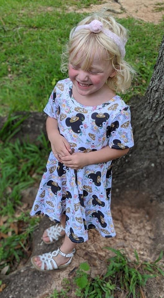 Princess Mouse Cross Back Twirl Dress