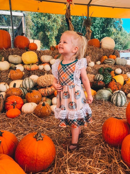 Field of Pumpkins Lace Dress