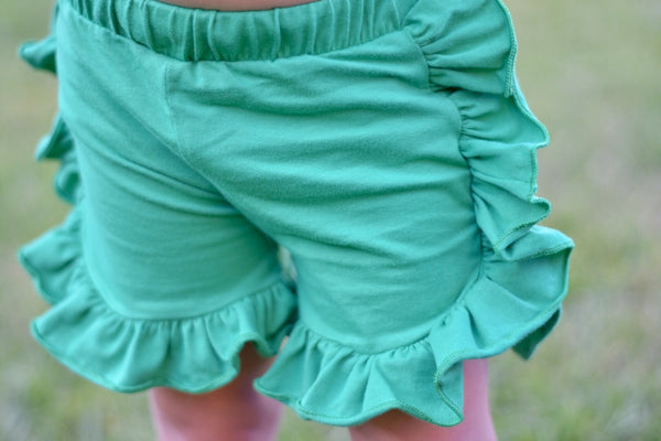 Green Side Ruffle Shorts