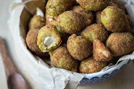 Fried Garlic Stuffed Olives