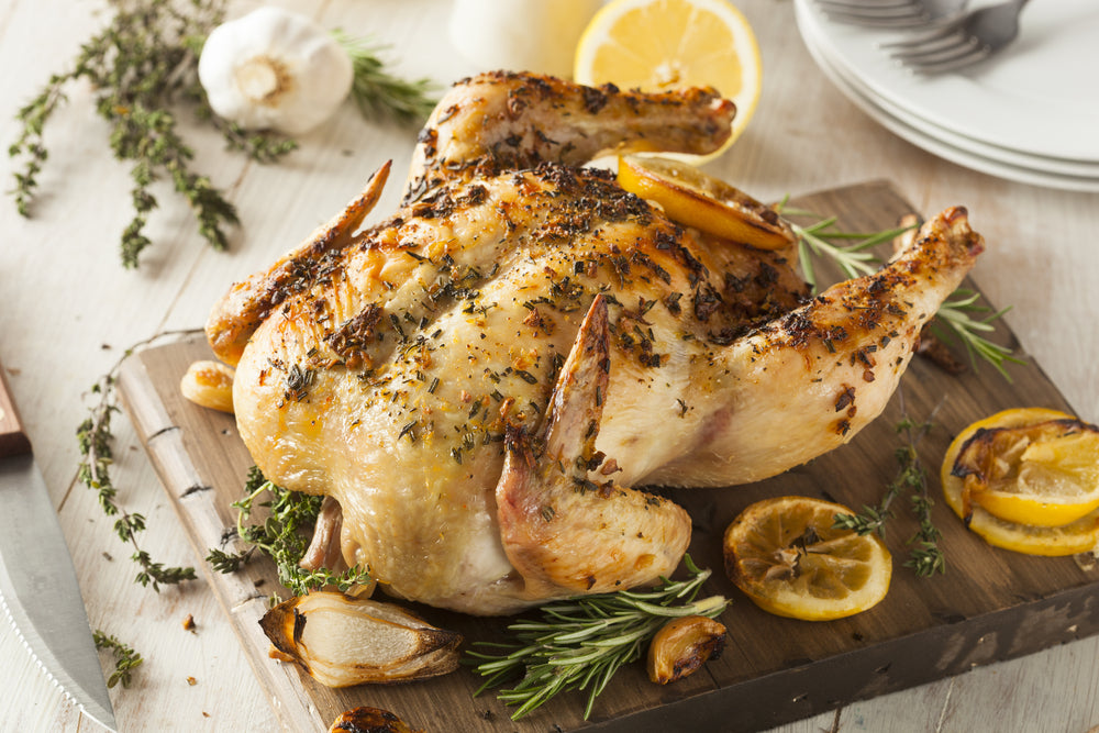 Rosemary Red Wine Roasted Chicken & Marinade