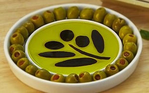 """Taste of the Orchard"" Olive Oil & Vinegar Dipping & Appetizer Plate"