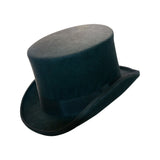 Olive Wool Felt Top Hat