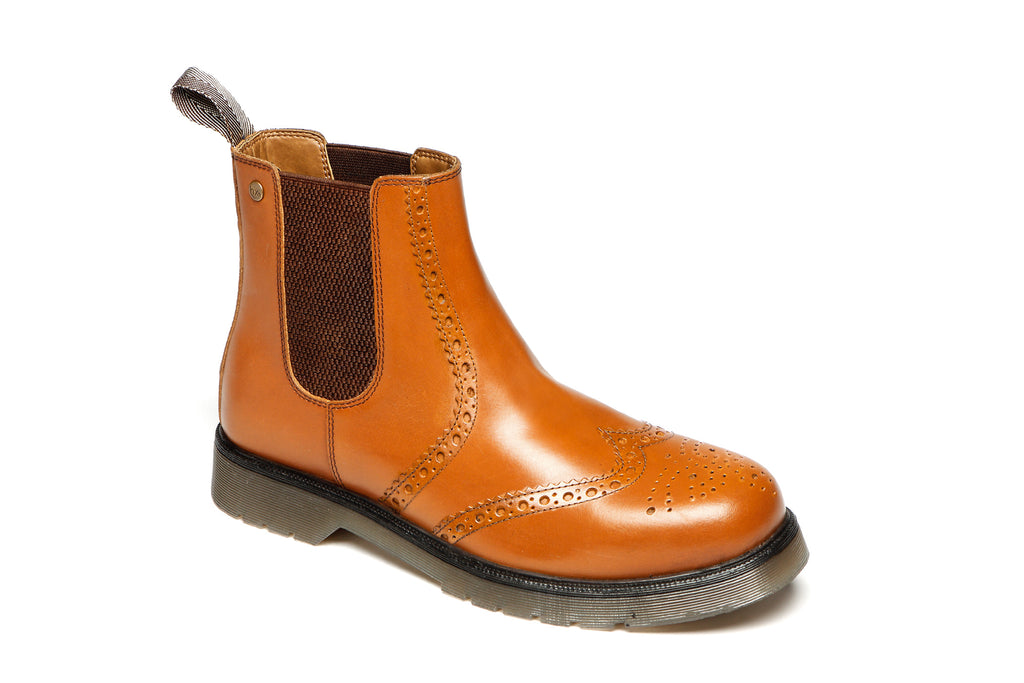 Catesby Mens Brogue Ankle Boots