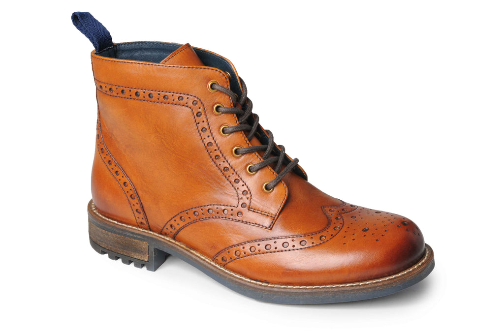 Catesby Mens Leather Brogue Boot