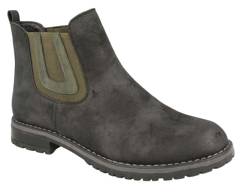 Ladies Down To Earth Flat Chelsea Ankle Boots
