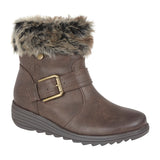 "Ladies Cipriata ""Coralla"" Brush PU Upper Boot"