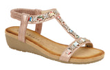 "Ladies Cipriata ""Lia"" Jewelled Sling Back Sandal"