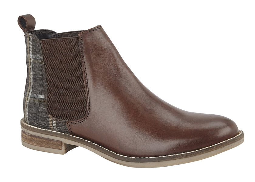 "Ladies Cipriata ""Zoe"" Leather/Tweed Ankle Boot"
