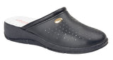 Ladies Coated Leather Clog