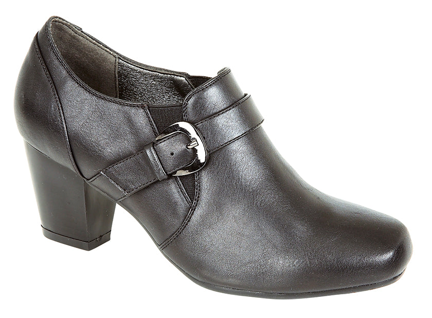 Boulevard Heeled Buckle Gusset Shoe
