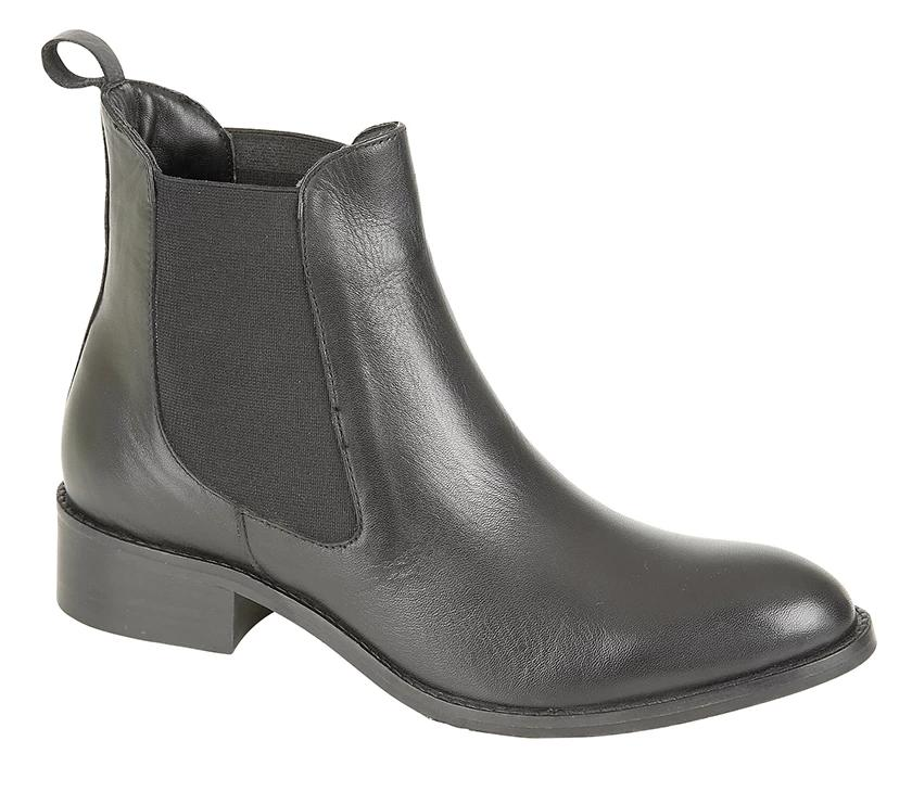 "Ladies Cipriata Black Leather Ankle Boot ""Bianca"""