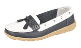Ladies Boulevard Leather Tassel Boat Shoe