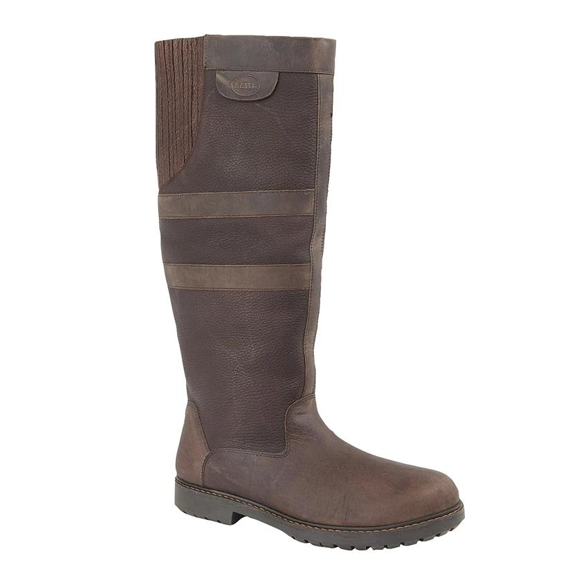 Woodland 'Hailey' Dark Brown Waxy Leather Country Boot
