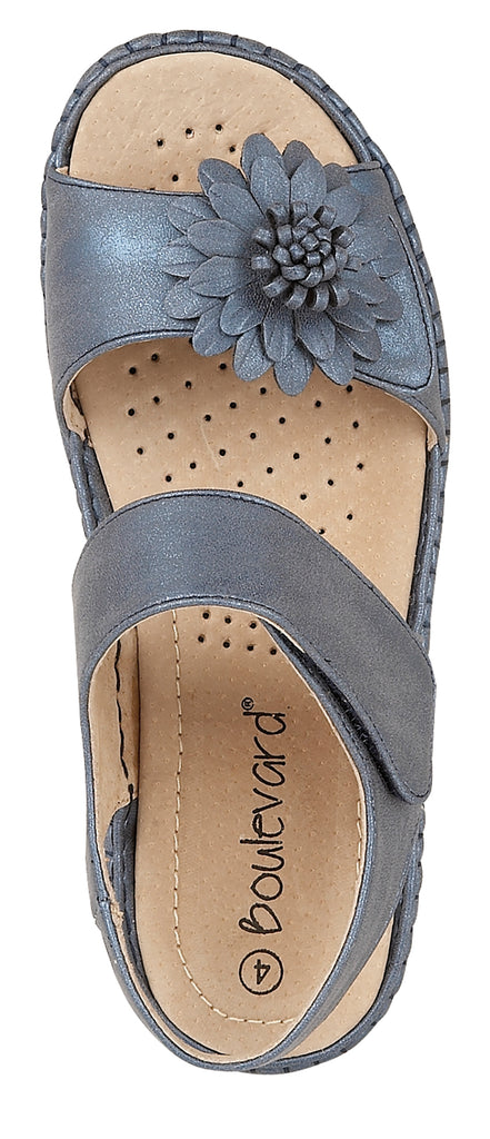 Ladies Boulevard Burnished PU Sandal