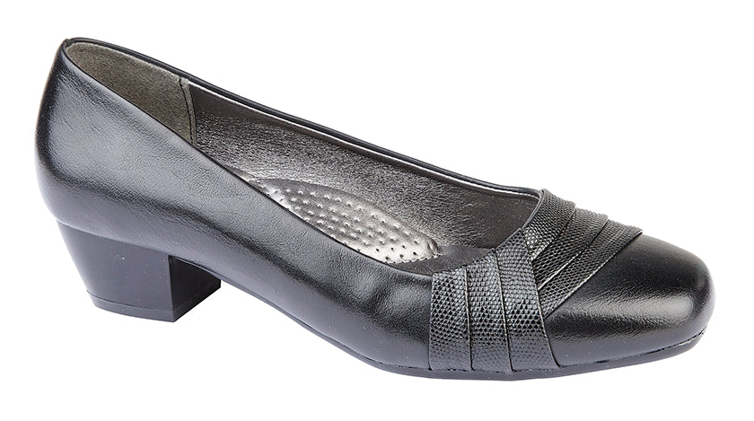 Womens  Boulevard PU Court Shoe