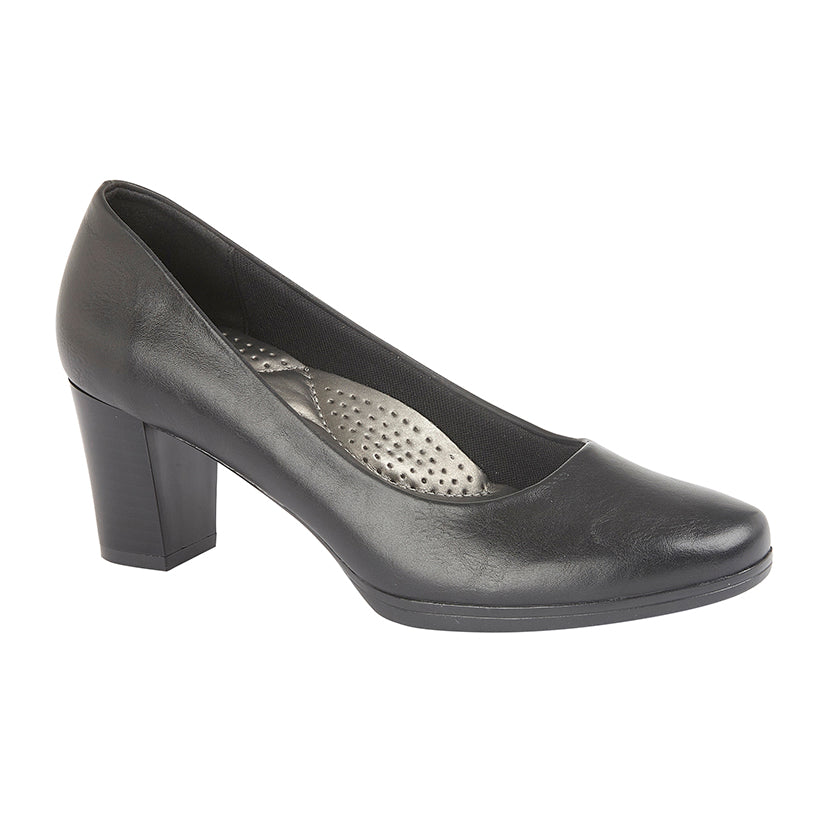Ladies Boulevard PU Plain Court Shoe